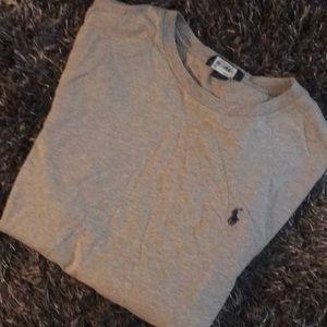 A polo gray long sleeve shirt xl 18-20